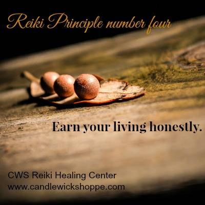 Reiki Principle Number Four.